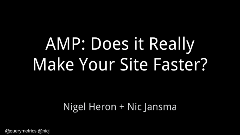 AMP: Does it really make your site faster