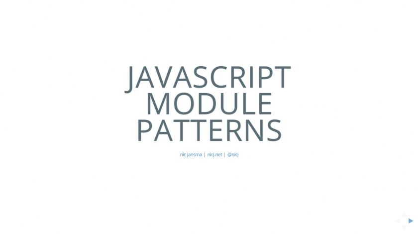 JavaScript Module Patterns Slides