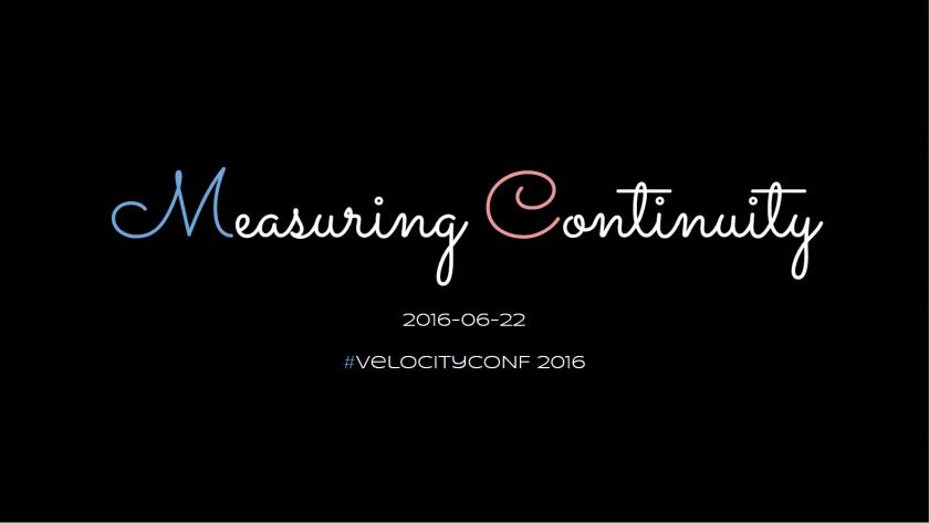 Measuring Continuity Slides
