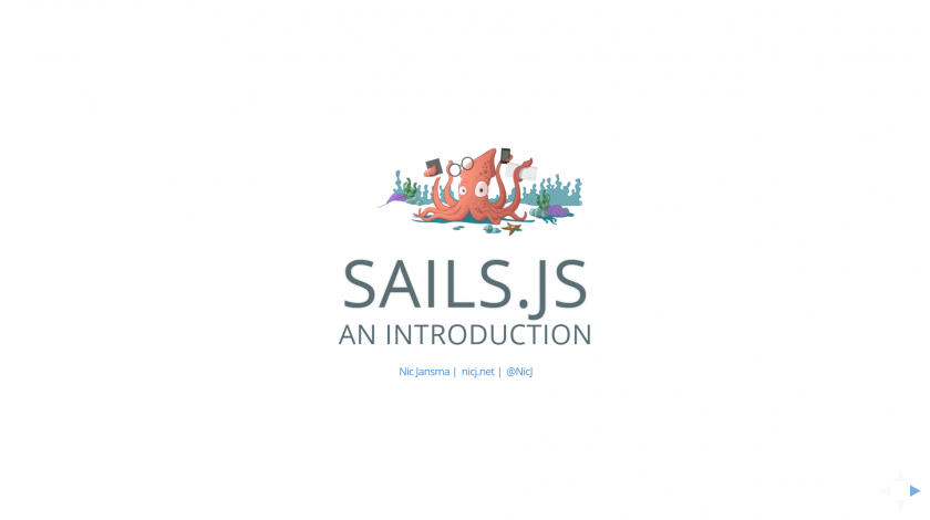 Sails.js Intro Slides
