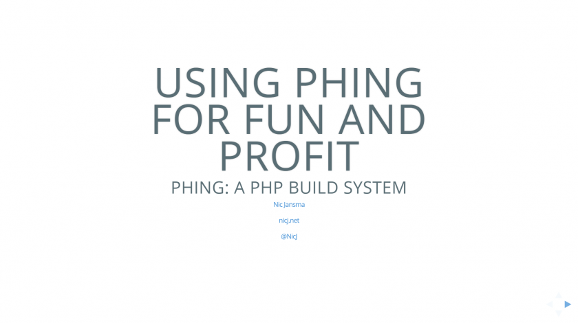 Using Phing for Fun and Profit Slides
