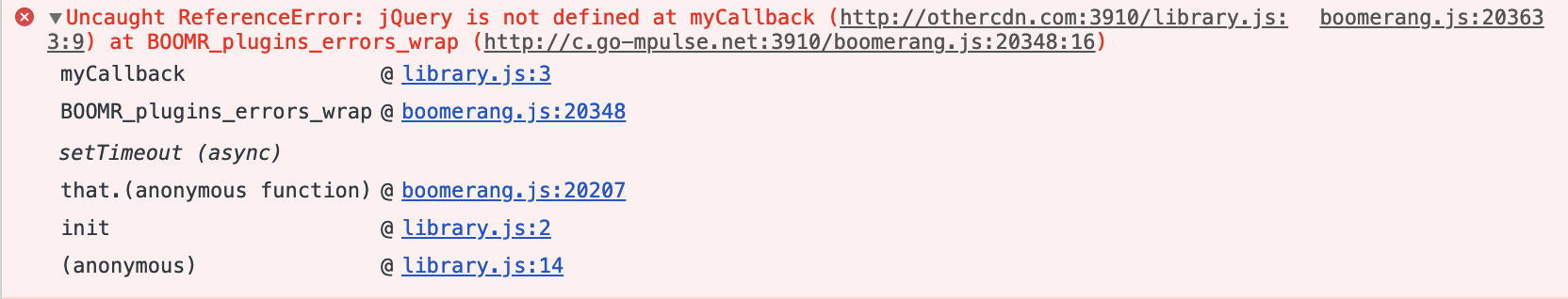 Chrome Developer Tools's Console message after wrapping