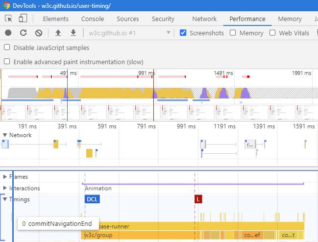 UserTiming in Chrome Dev Tools
